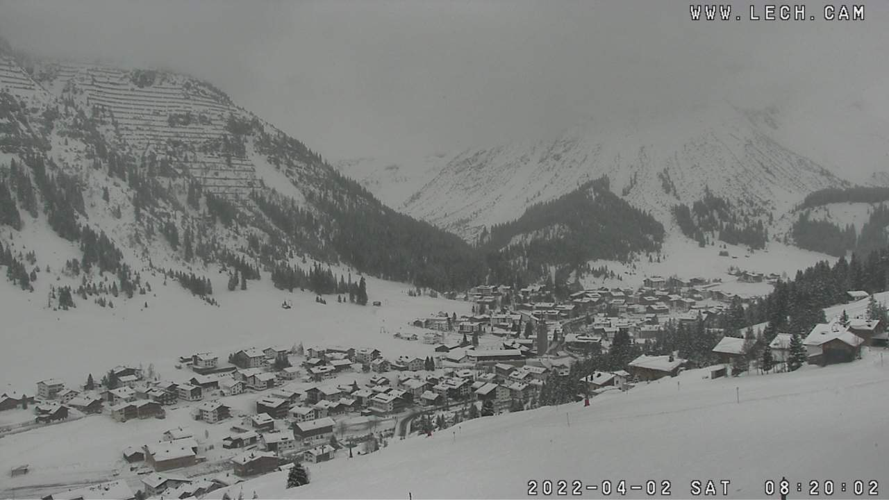 Lech - Zürs Panorama Live Webcam